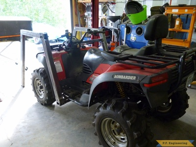 Bombardier ATV Loader left rear view