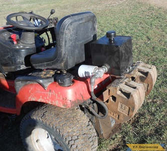 simplicity garden tractor loader reservoir trank and weights