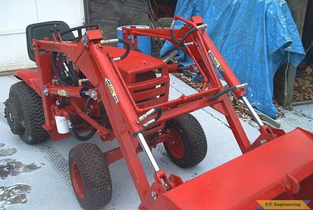 Burt T. in Hallowell, ME built this nice looking loader for his WheelHorse garden tractor 4