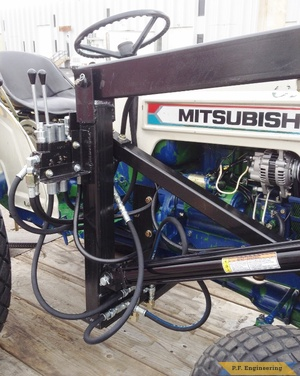 Mitsubishi 630D compact tractor loader right side