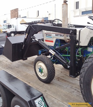mitsubishi 630D compact tractor loader left side