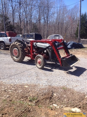 Ford 9N loader low bucket