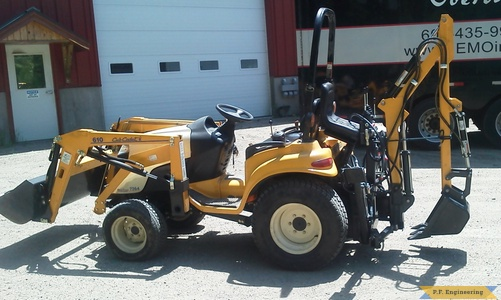 Cub Cadet 7264 Micro Hoe left side view by Kevin P., Pittsfield, NH
