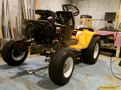 Cub Cadet 1430 loader build with new frame and engine installed by Kyle H., Minneapolis, MN