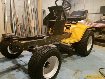 Cub Cadet 1430 loader build with new frame installed by Kyle H., Minneapolis, MN