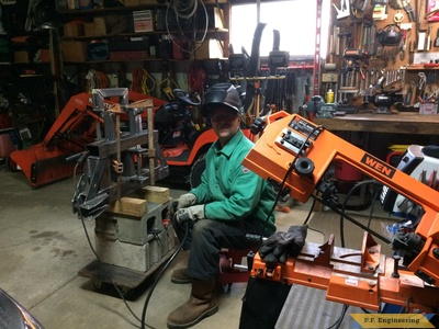 Kubota BX2200 micro hoe sub frame build by Mark J.