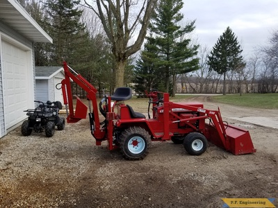 WheelHorse D series Micro Hoe swivel seat by Matt C., West Bend, WI