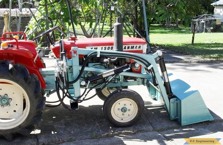yanmar 1500 compact tractor loader right side