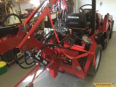 Honda 5518 Micro Hoe during the build 2 by Rick C., Berwick, Nova Scotia, CN