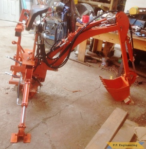 Kubota BX 2370 Micro Hoe off tractor right side by Rob. A., Hadley, MA