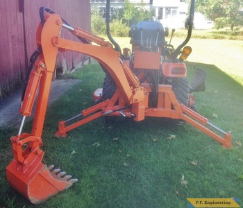 Kubota BX 2370 Micro hoe backhoe rear by Rob A., Hadley, MA