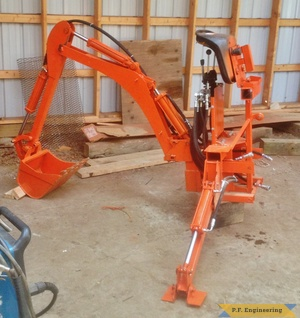 Kubota BX 2370 micro hoe off tractor left side by Rob A., Hadley, MA
