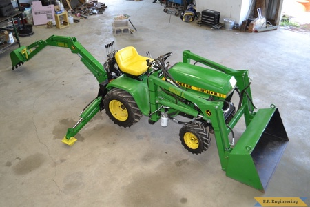 John Deere 210 backhoe loader by Ryan B., Mayetta, KS