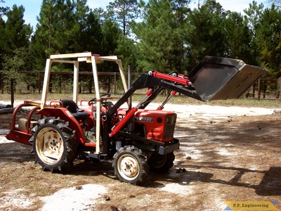 Yanmar YM1720D by Sam D. in Camden, S.C. with p.f.engineering front end loader bucket lifted