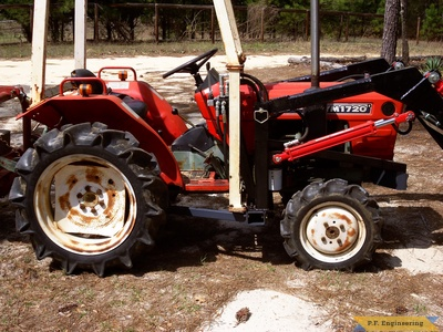 Yanmar YM1720D by Sam D. in Camden, S.C. with p.f.engineering front end loader right side view