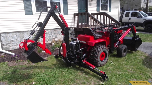 Eric G. stanhope, NJ WheelHorse D-200 loader and micro hoe