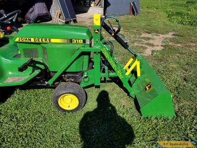 Built by Gene H. from Palm, PA for his John Deere 318 - right side view 2