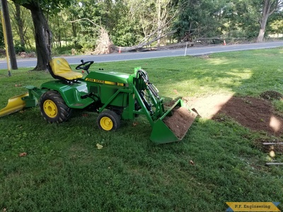 Built by Gene H. from Palm, PA for his John Deere 318 - right side view