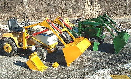 Cub Cadet 1862 and John Deere 317 garden tractor loaders_1