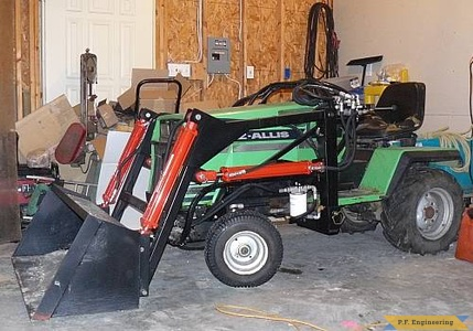 Deutz Allis garden tractor loader_1