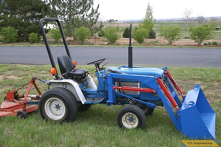 Ford 1220 compact tractor front end loader_1