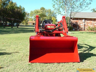Wheel Horse 16 HP garden tractor loader _2