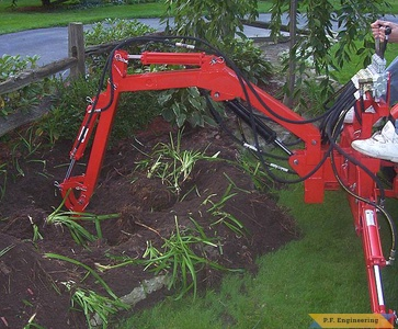 Economy Power King compact tractor Micro Hoe_1