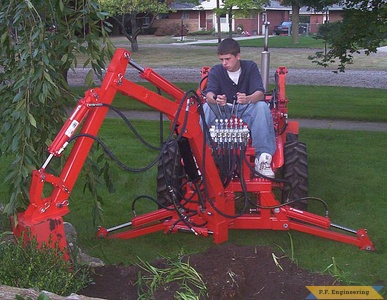 Economy Power King compact tractor Micro Hoe_2